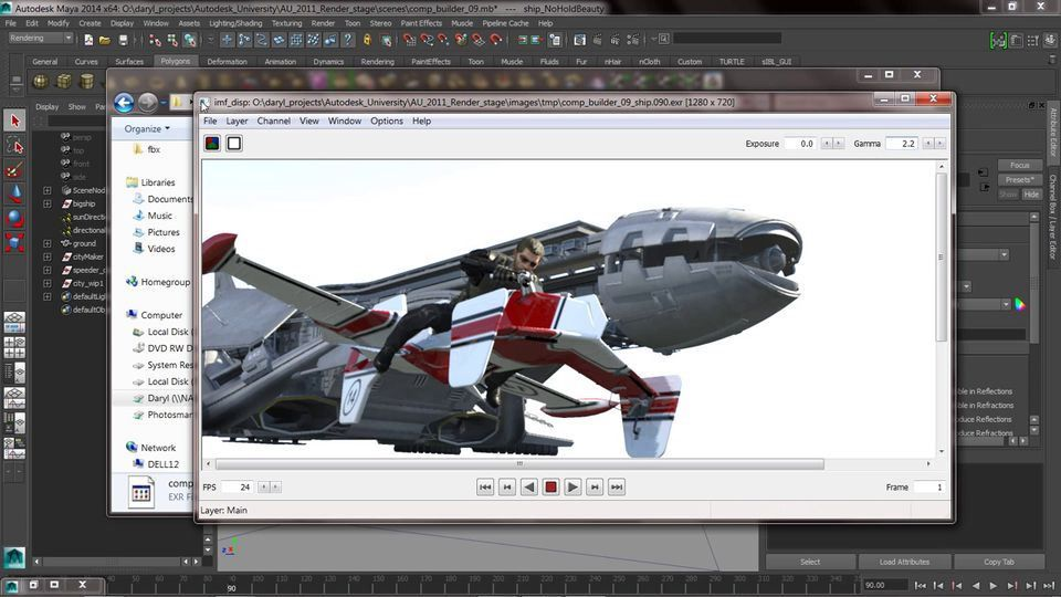 Maya Render Layers Render Passes And Postcomputer Graphics