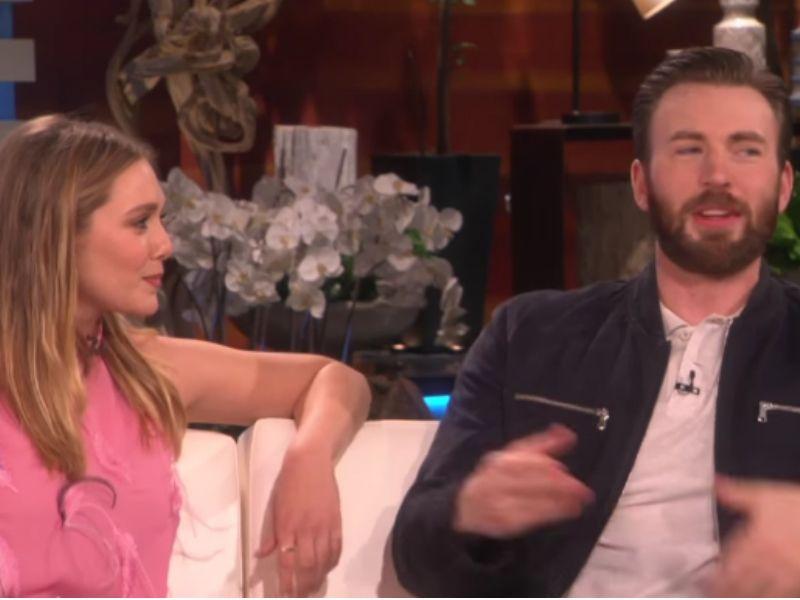 Chris Evans Elizabeth Olsen Relationship Captain America Stars Speak On Romance Rumors Video Chris Evans Elizabeth Olsen Celebrity Couples