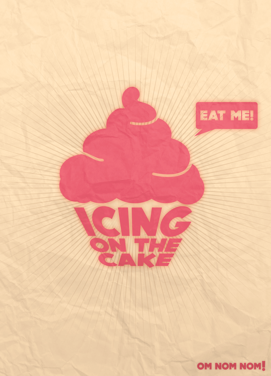 """""""Icing On The Cake"""" Poster logo Cupcake logo"""