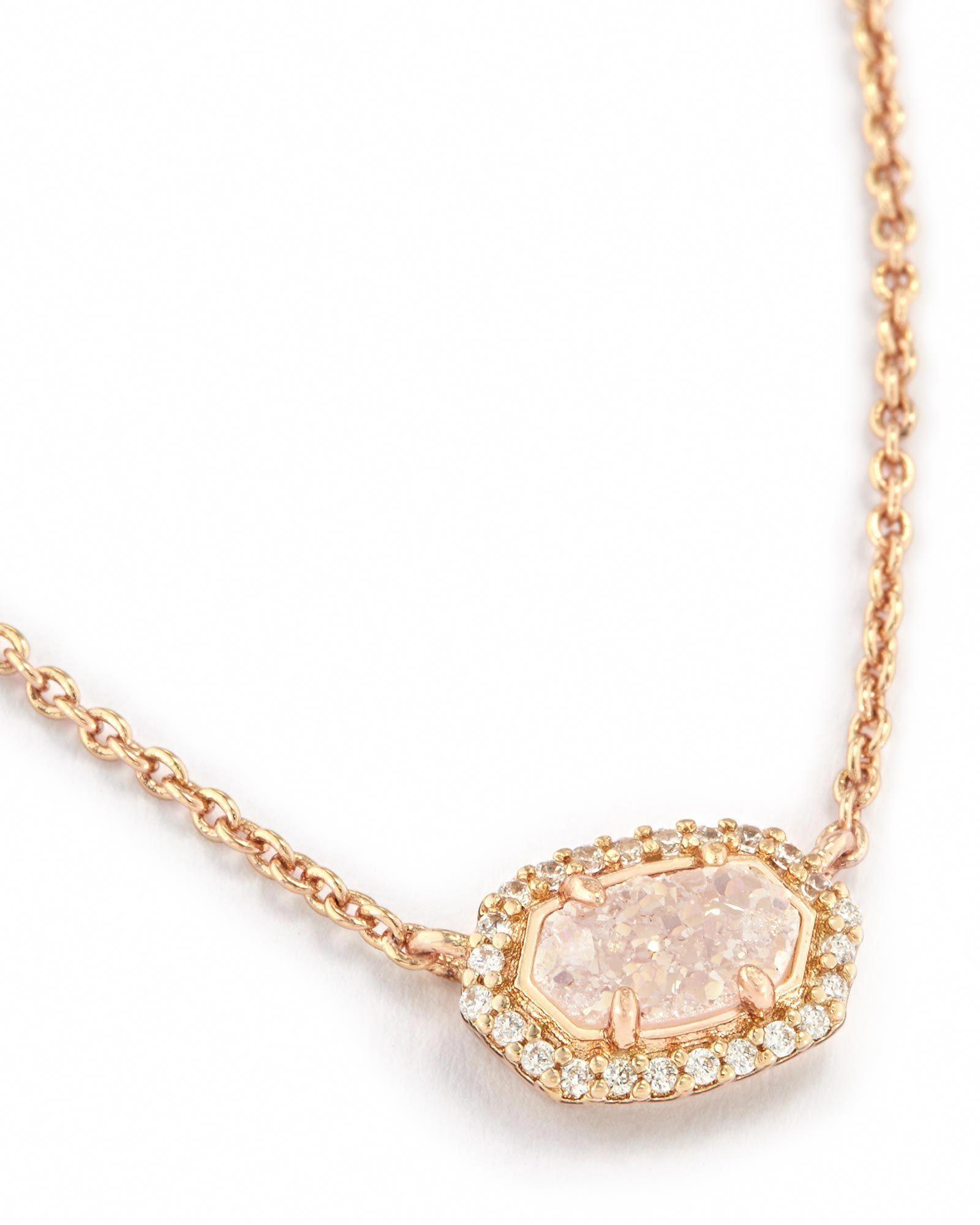 Chelsea Pendant Necklace in Rose Gold Kendra Scott