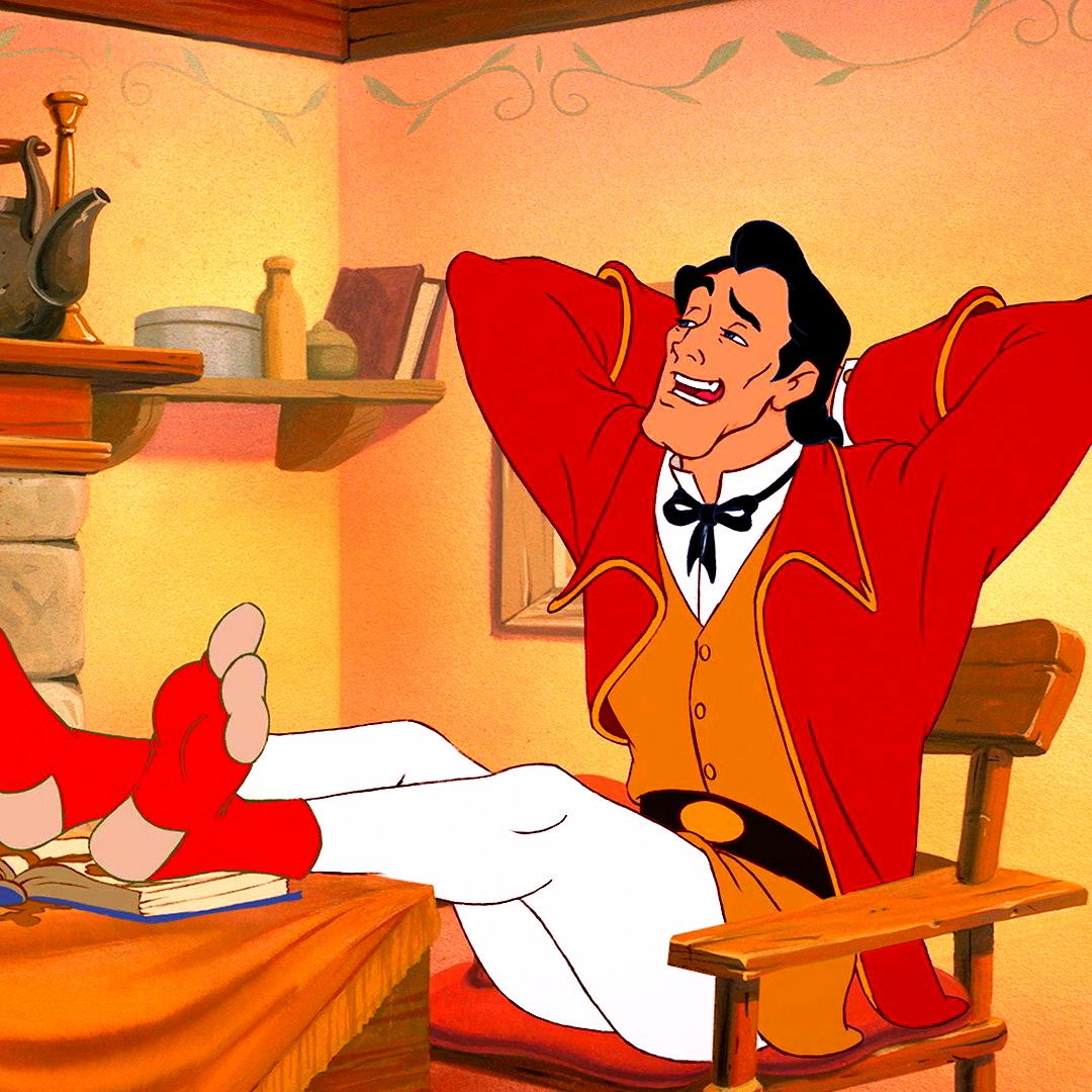 Pin By Ursula Umetniska On Risanke Disney Movie Scenes Gaston Beauty And The Beast Disney Villains