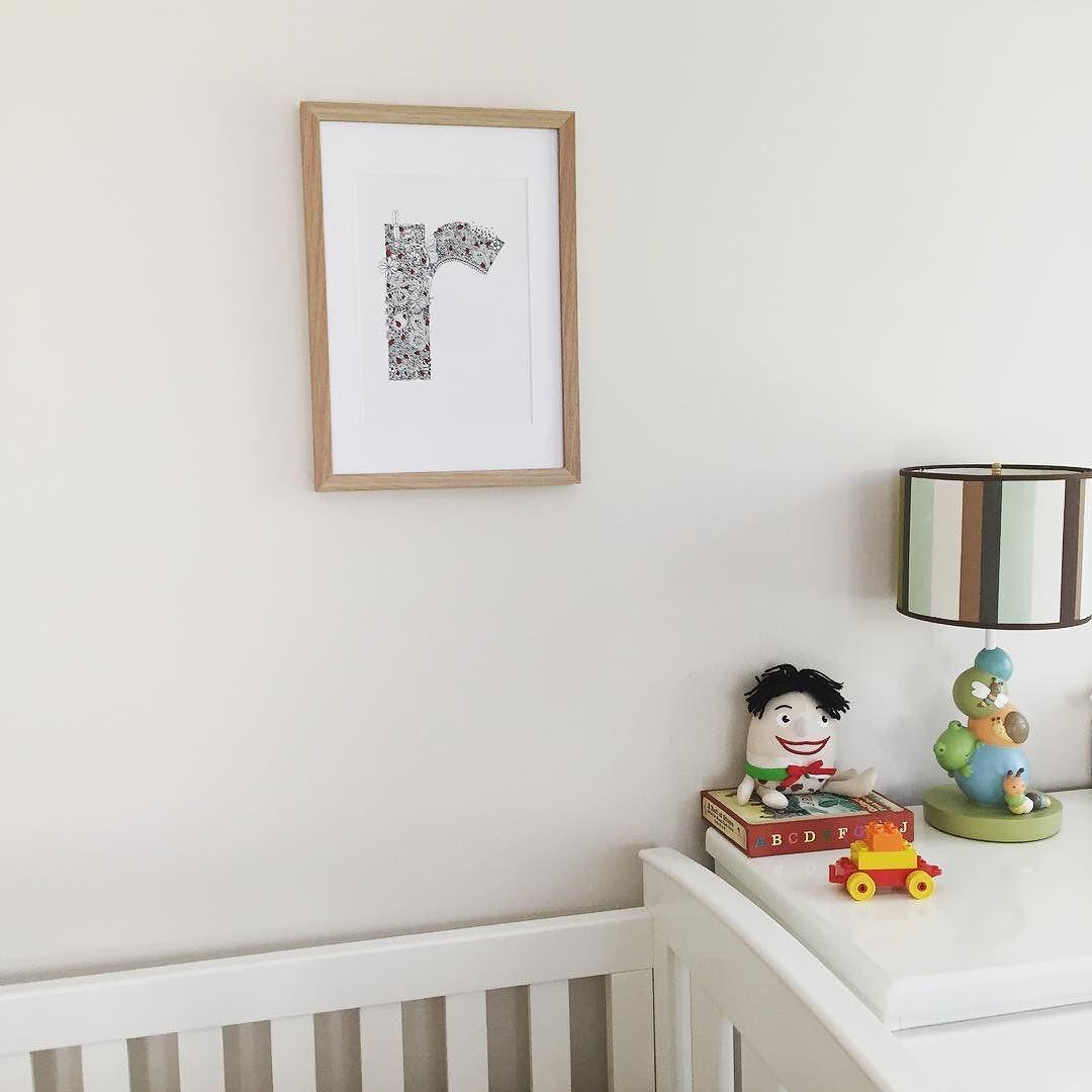 r is for ruby   bugs in the garden illustrated r framed and on the nursery wall. . . #illustratedletter #letter #letterr #lettering #handdrawn #handlettered #finelinerart #bugs #ladybug #ruby #risforruby #nursery #nurserydecor #childrensart #kidsroom #kidsdecor #wamade #perthart #typelove #initial #r #decor #onthewall