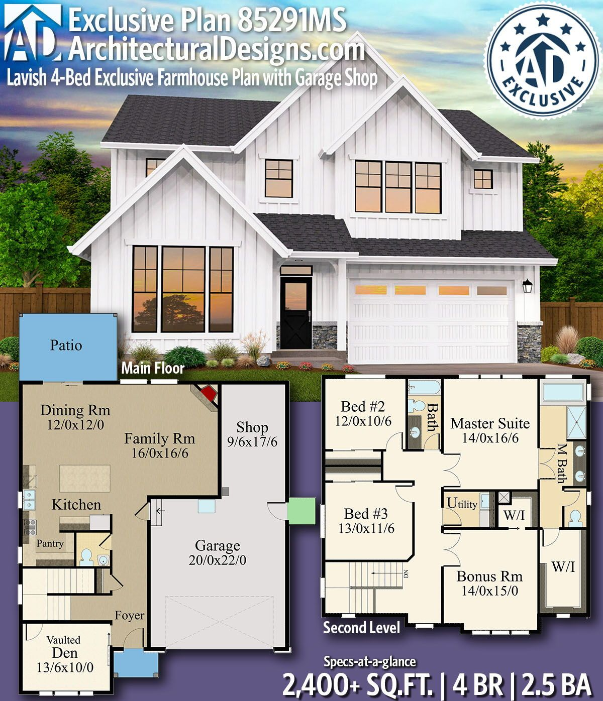 Architectural designs exclusive farmhouse plan ms gives you bedrooms baths and also pin by drummond house plans on small  affordable home rh pinterest