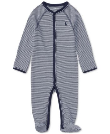 842371b08 Ralph Lauren Baby Boys Striped Cotton Coverall - French Navy 3 ...
