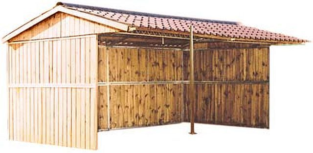 One of our flexible static #field #shelter, with pine sides and steel reinforcements