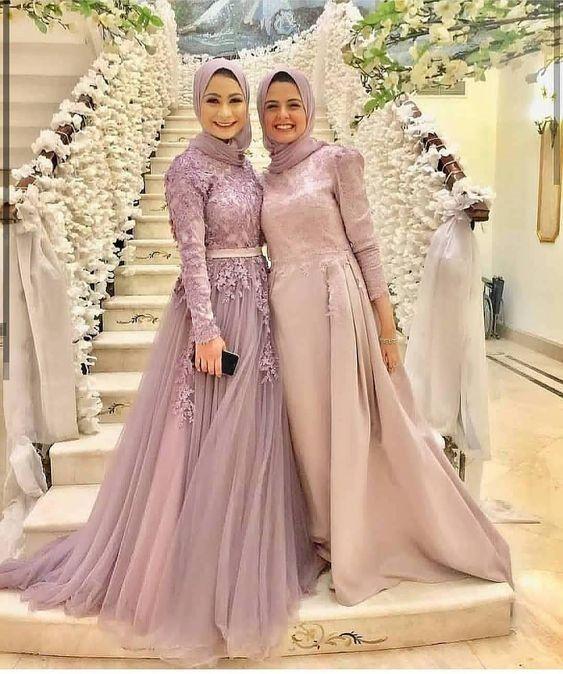 2019 Tesettur Abiye Elbise Modelleri Ve Fiyatlari Pakaian Pesta Gaun Perempuan Pakaian Perkawinan