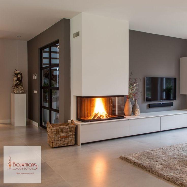 36 coole Wohnzimmer Design Ideen mit Kamin, um Sie diesen Winter warm zu halten      Living ...