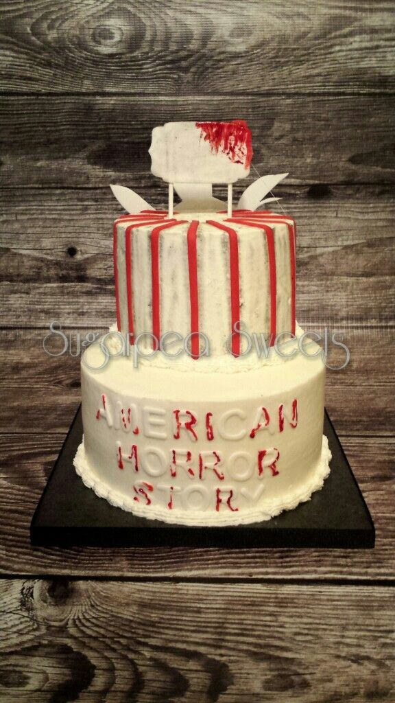 American Horror Story Themed Cake Backside By Sugarpea Sweets