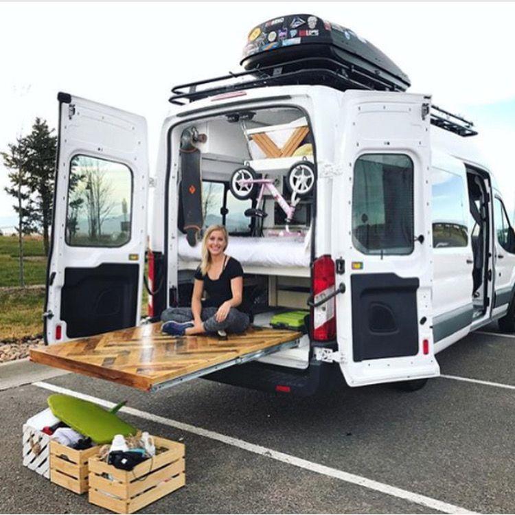Neat Idea For A Slideout Back Porch Van Life Camper Van Conversion Diy Van Life Diy