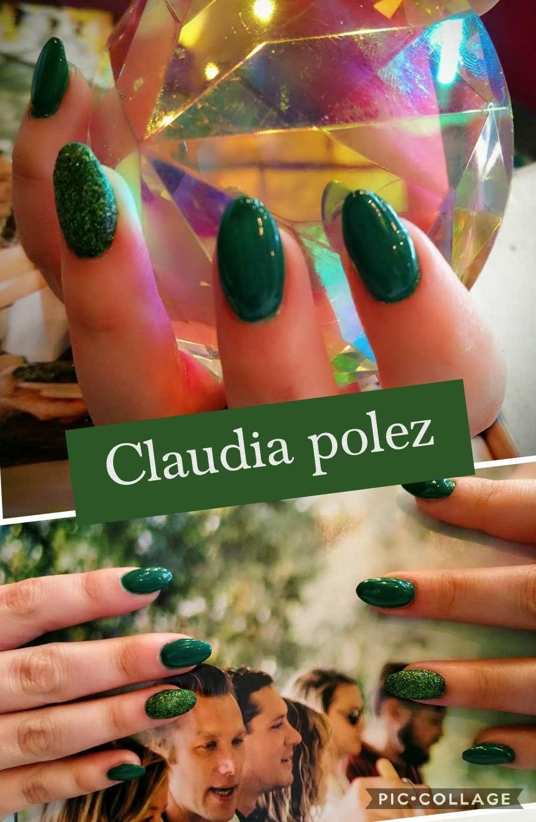 Uñas verdes realizadas por Claudia polez de Tijuana BC | cortes ...