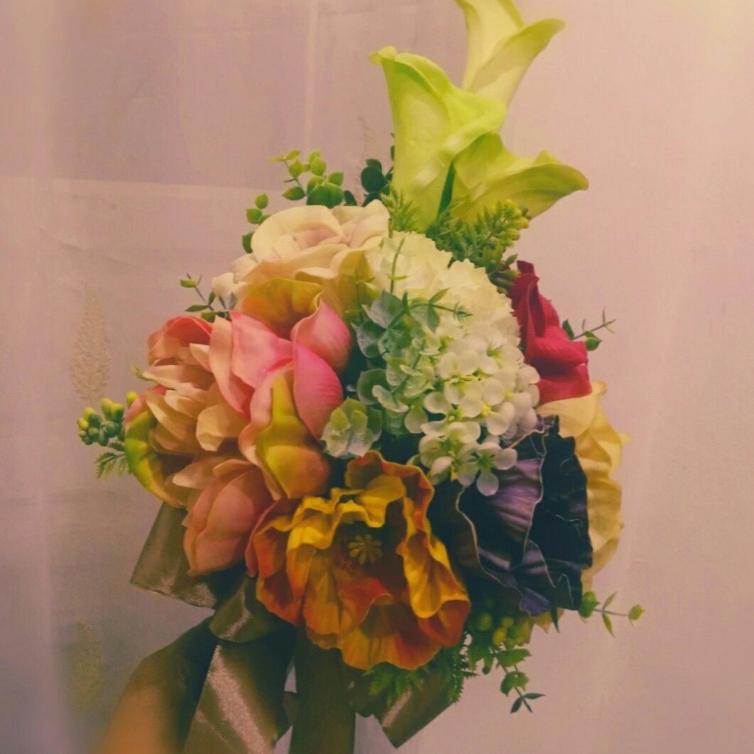 Real touch flower wedding hand bouquet real touch flower real touch flower wedding hand bouquet izmirmasajfo