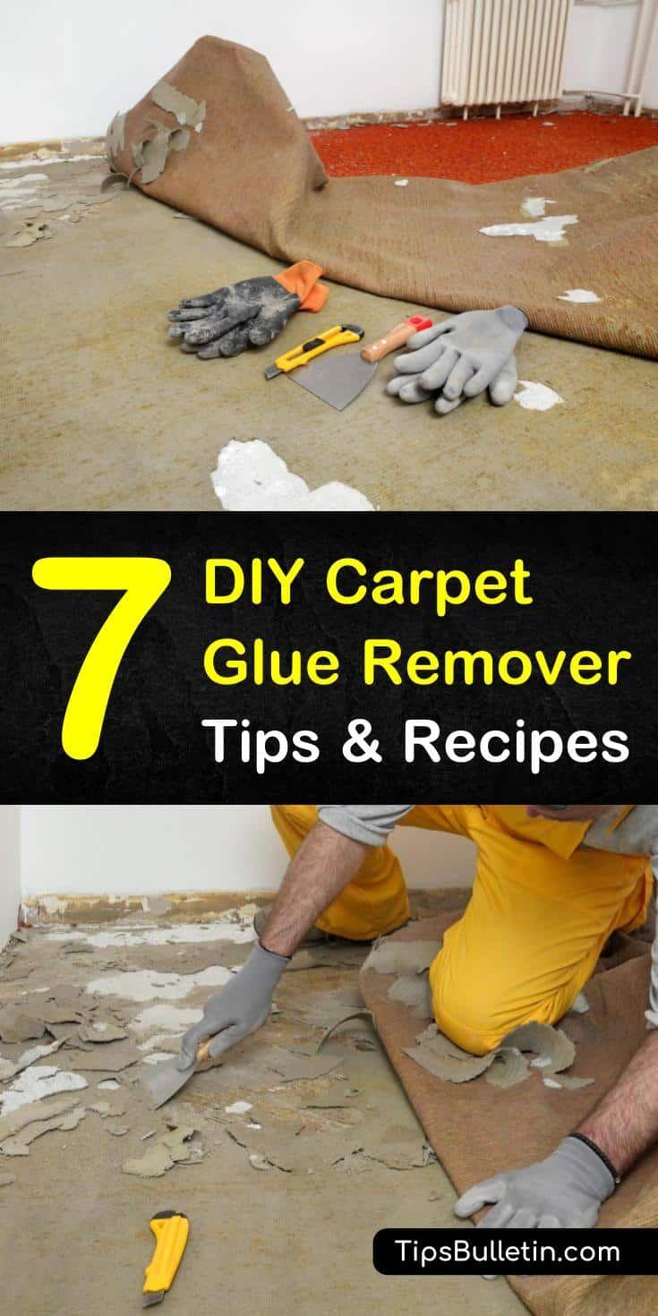 how to remove carpet glue from concrete porch
