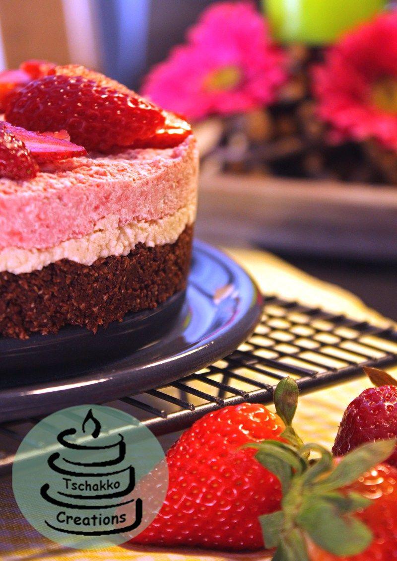 Erdbeer Nuss Torte Ohne Backen Ohne Mehl Ohne Eier Ohne Zucker