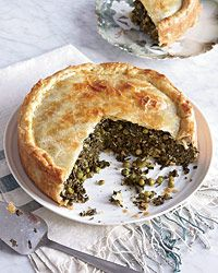 Spinach-and-Grape-Leaf Pie  - Vegetarian from Food & Wine