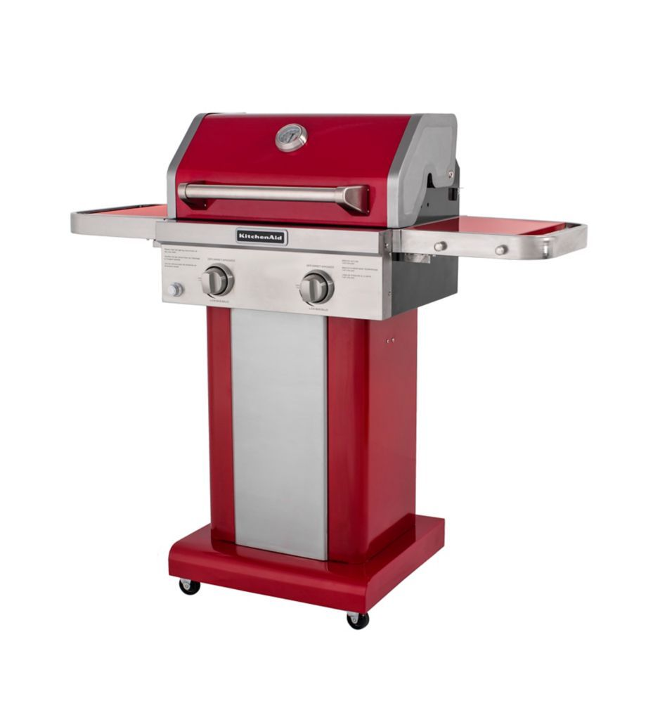 Stainless Steel Gas Grill Outdoor 2 Burner Patio Propane Bbq Cook With Cover Red