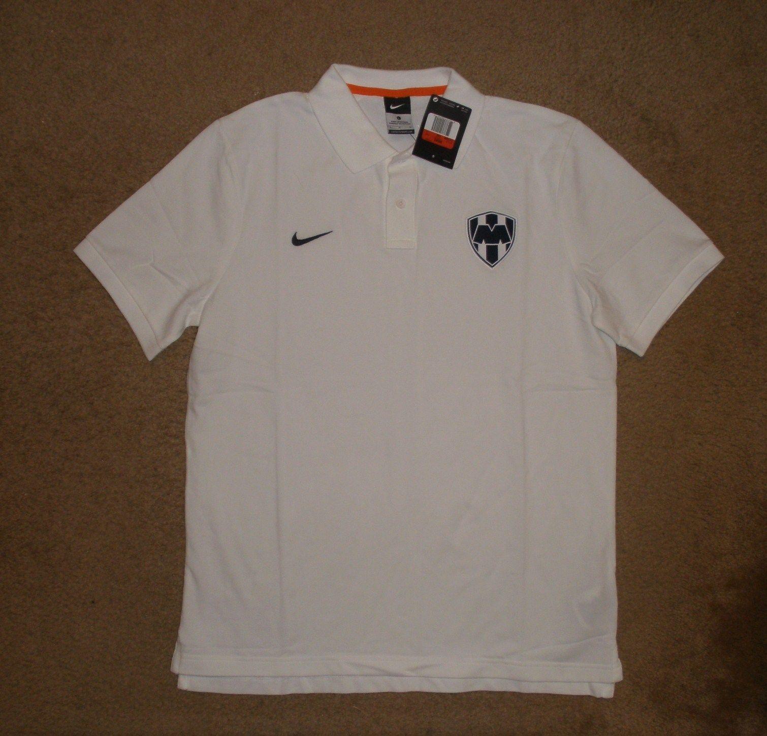 Nike cf monterrey football soccer polo shirt new large nwt