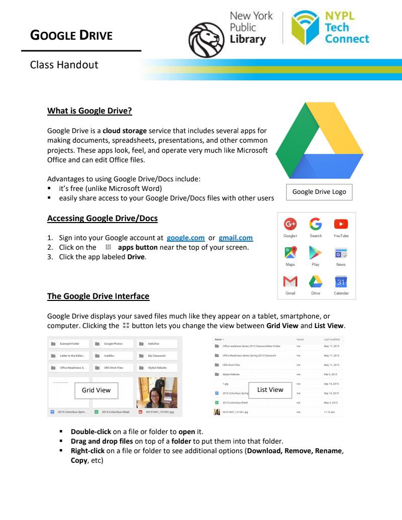 Google Drive Class Handout From Nypl Final Class Handouts Google Drive