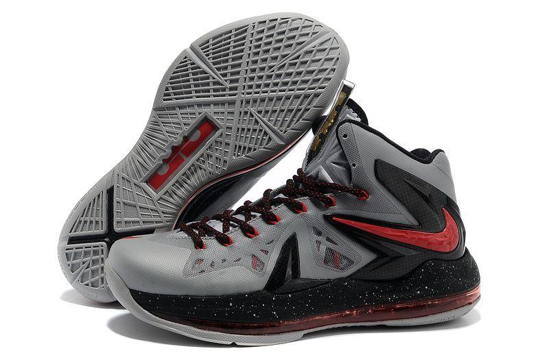 huge discount b9e4d 9f37c Nike Lebron 10 Elite Grey Black Red