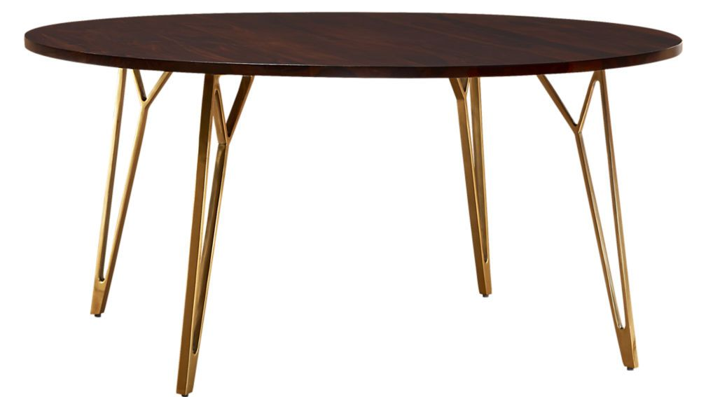 799 Dial 60 Dining Table Cb2 Tables Walnut