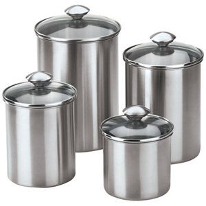 Chef\'s Mark 4-Pc. Stainless Steel Canister Set | Kitchen ...