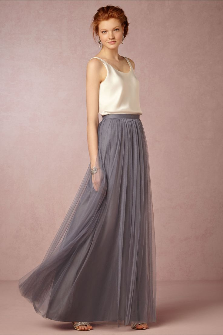 Louise tulle skirt tulle skirts hydrangea and swatch louise tulle skirt tulle skirt bridesmaidgray bridesmaid dressesflattering ombrellifo Image collections