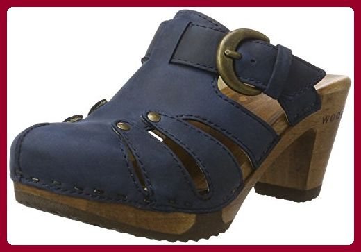 Woody Damen Nele Clogs, Blau (Avion), 39 EU