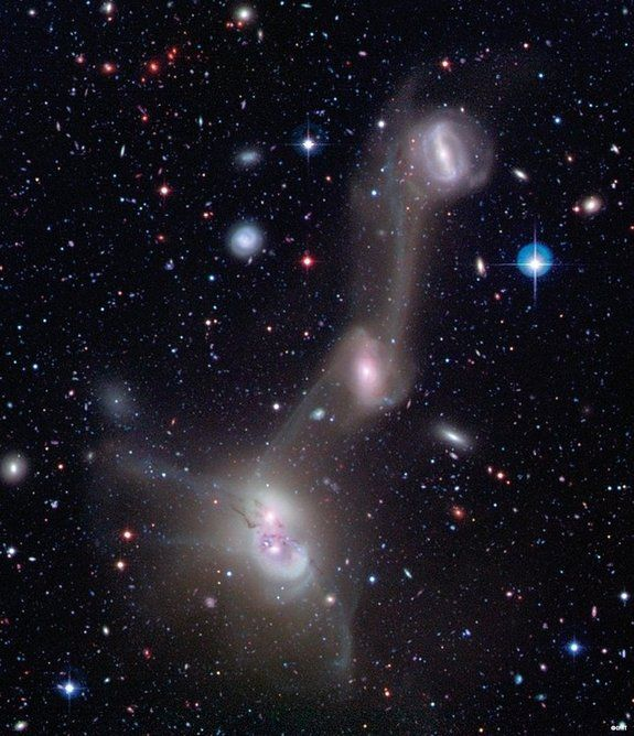 4 spiral galaxies in NGC 4410