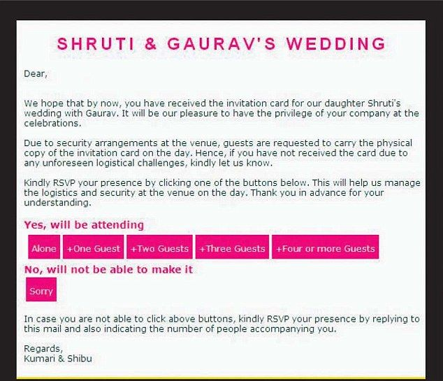 Infosys founder sends Bondstyle invitations to daughters wedding