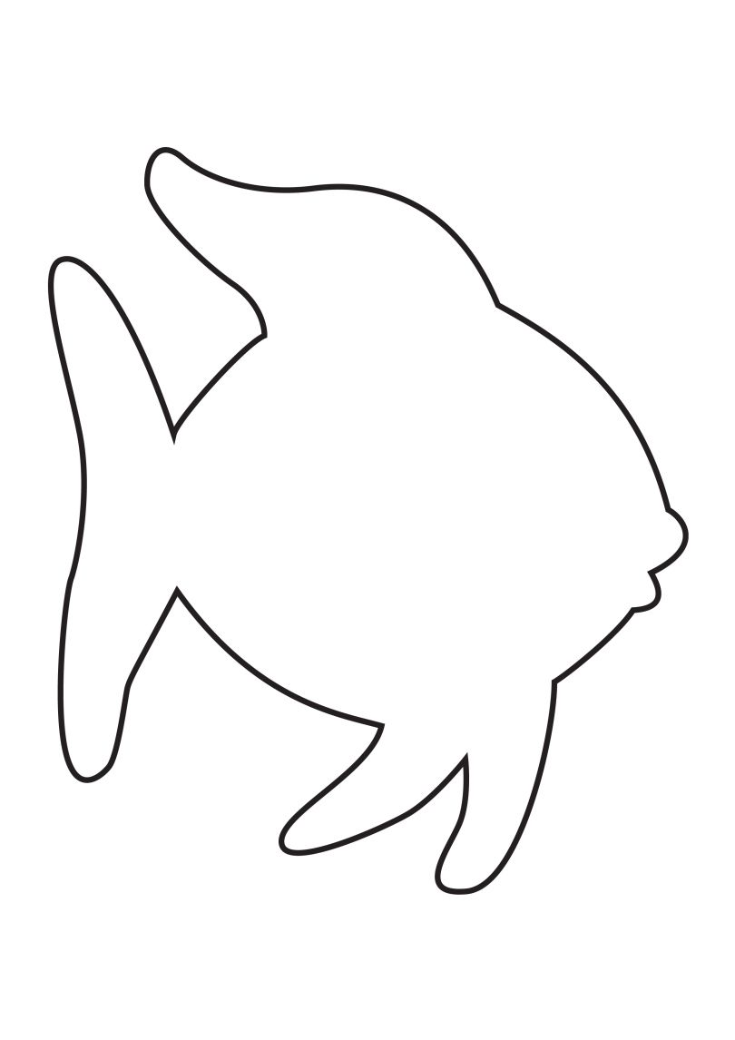 rainbow fish template - Animal Outlines To Color
