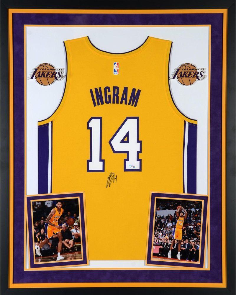 2bce047e258 Brandon Ingram Lakers Dlx Framed Autographed Gold Fanatics Rep Jersey -  Fanatics  sportsmemorabilia  autograph  basketballjersey