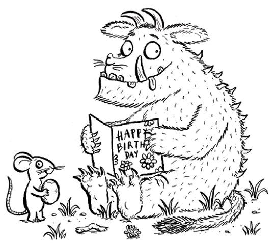 Kleurplaat Coloring Books The Gruffalo Monster Coloring Pages