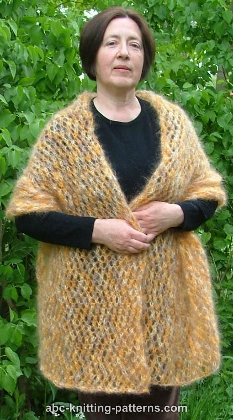 ABC Knitting Patterns - Cozy Mohair Wrap | Shawls | Pinterest | Dos ...