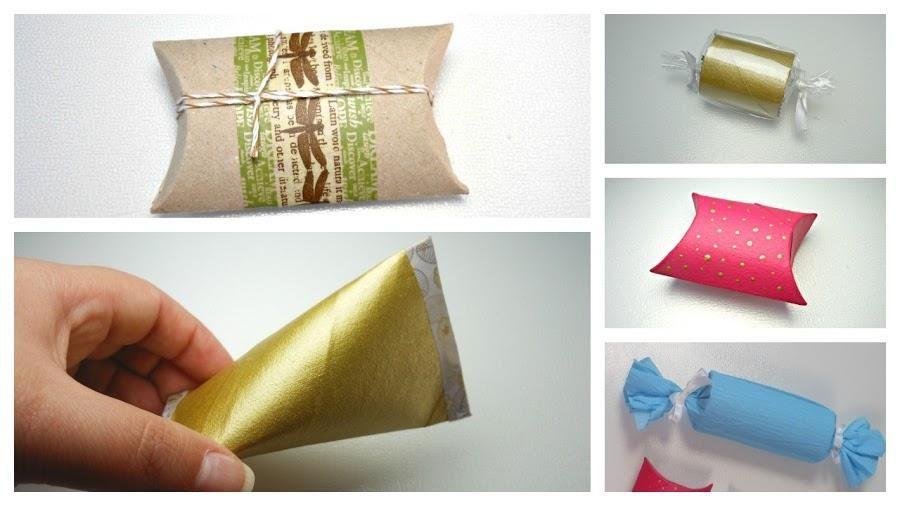 5 ideas para envolver regalos con rollos de papel