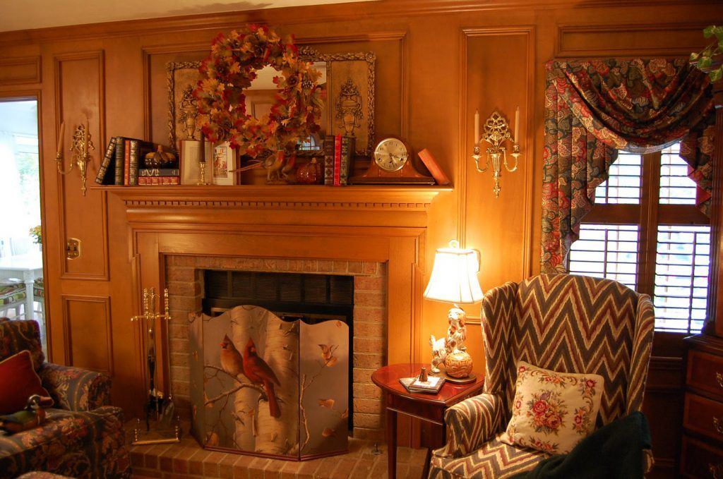 Interior:Alluring No Mantel Fireplace Christmas Decor Also Shabby ...
