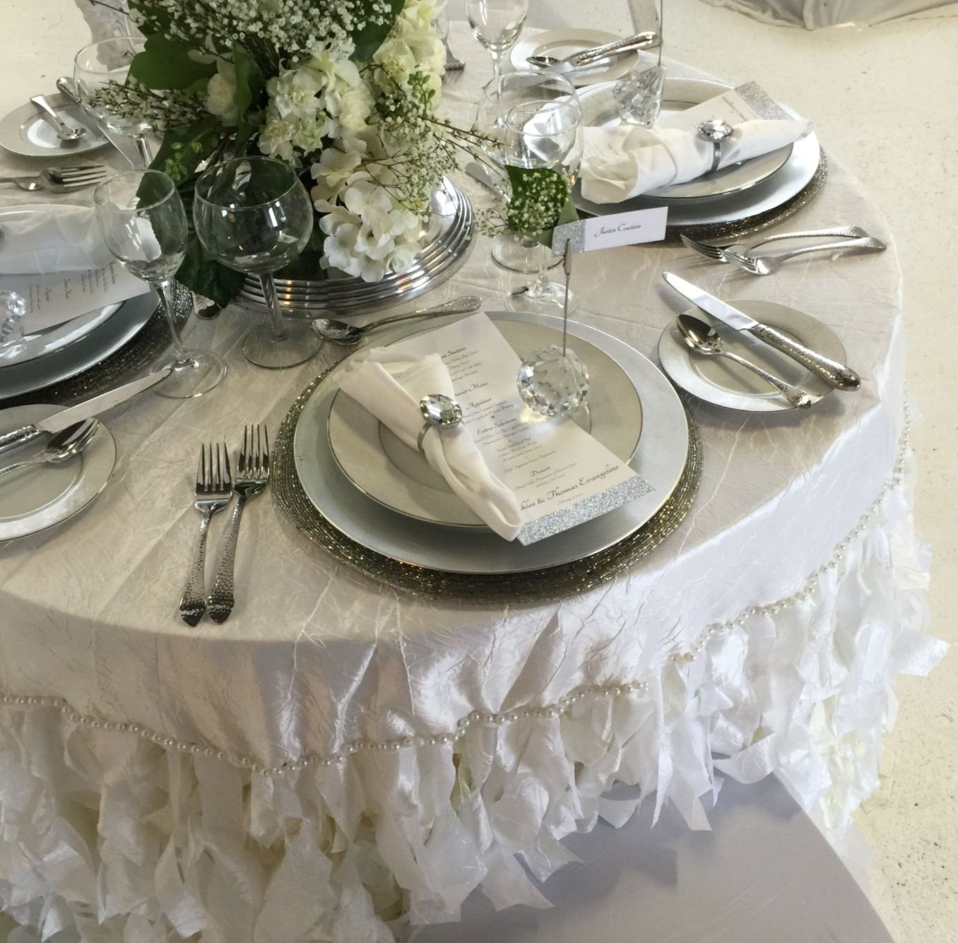 White Ivory Silver Table Setting Silver Table Settings Silver
