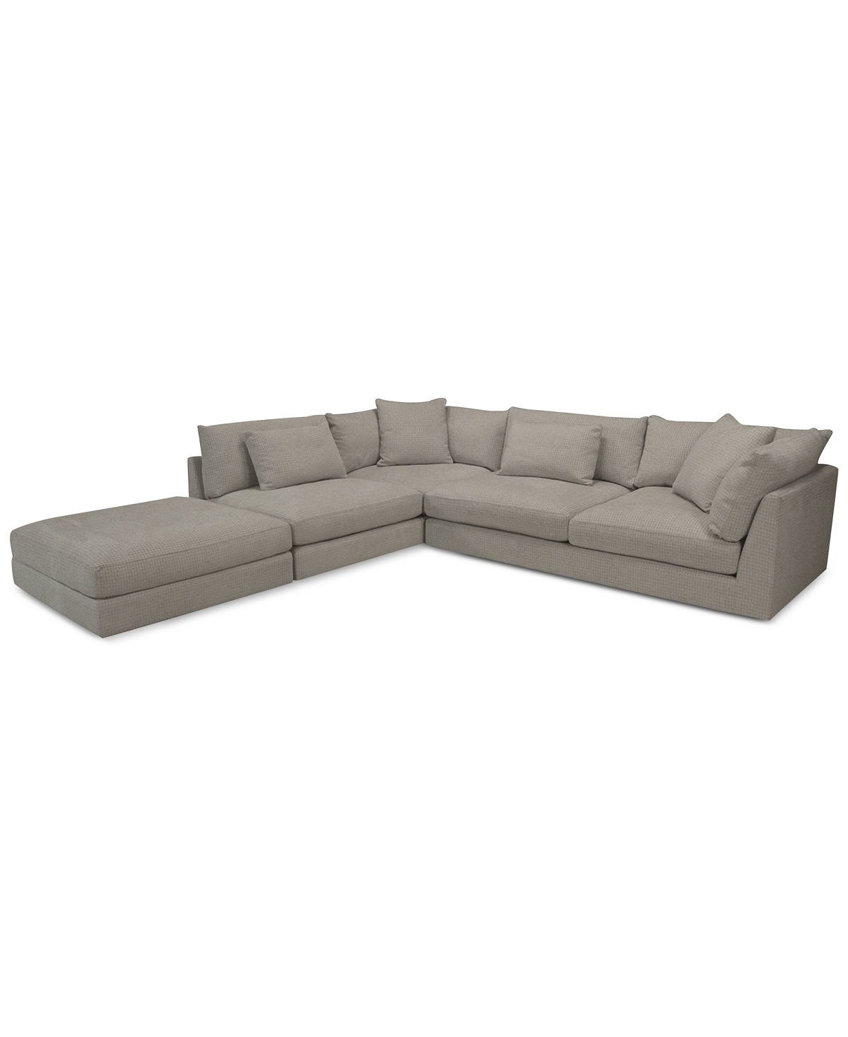 Rojah Fabric 3Pc Sectional with Large Bumper Ottoman Only at