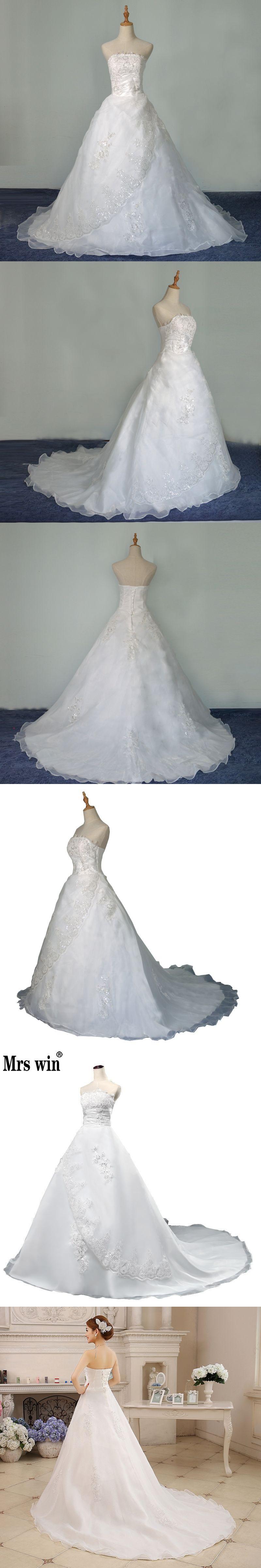 7695274ed19d New Summer Style Wedding Bride Long Tail Bra Straps Lace Wedding Dress  Vestidos De Casamento Bridal
