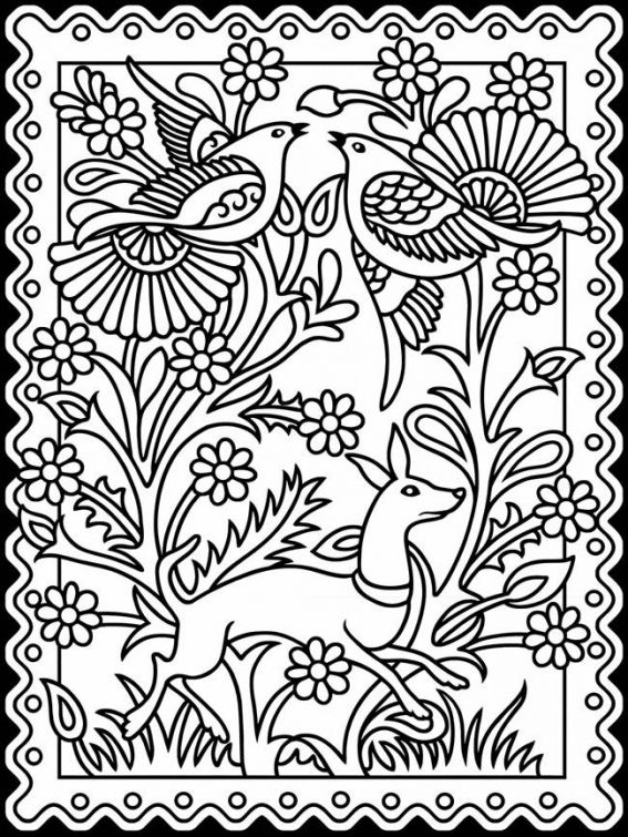 Stained Glass design coloring sheet for grown ups | Abstract ...