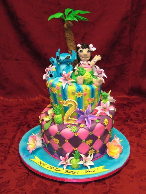 Lilo Stitch Hawaiian Disney Cake Fiesta Hawaiana Infantil