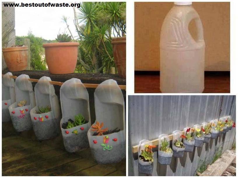 diy plant pots from plastic bottles