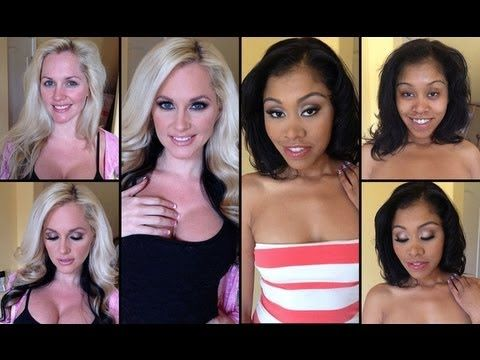 adult film actresses  WITH AND WITHOUT MAKEUP!  this is a video on sharing what just makeup can do and not worrying about retouched airbrushed photos in magazines