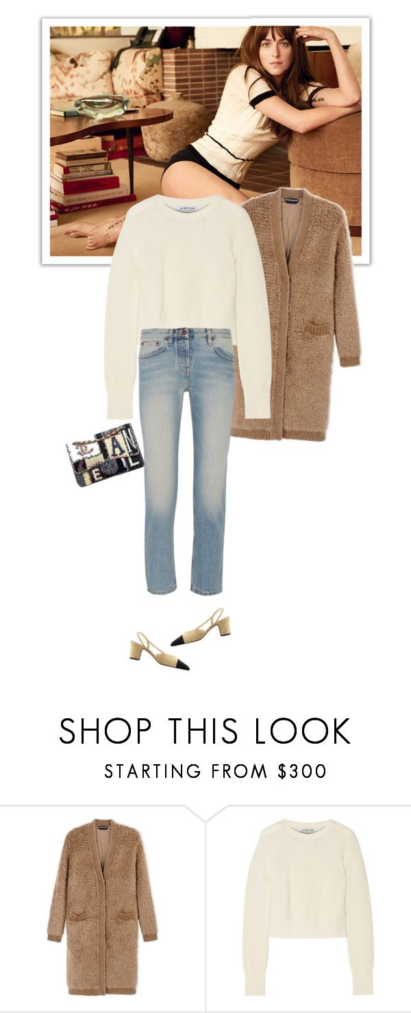 """""""Casual Chic"""" by mariotsala22 ❤ liked on Polyvore featuring Chanel, Rochas, Helmut Lang, The Row and polyvoreeditorial"""