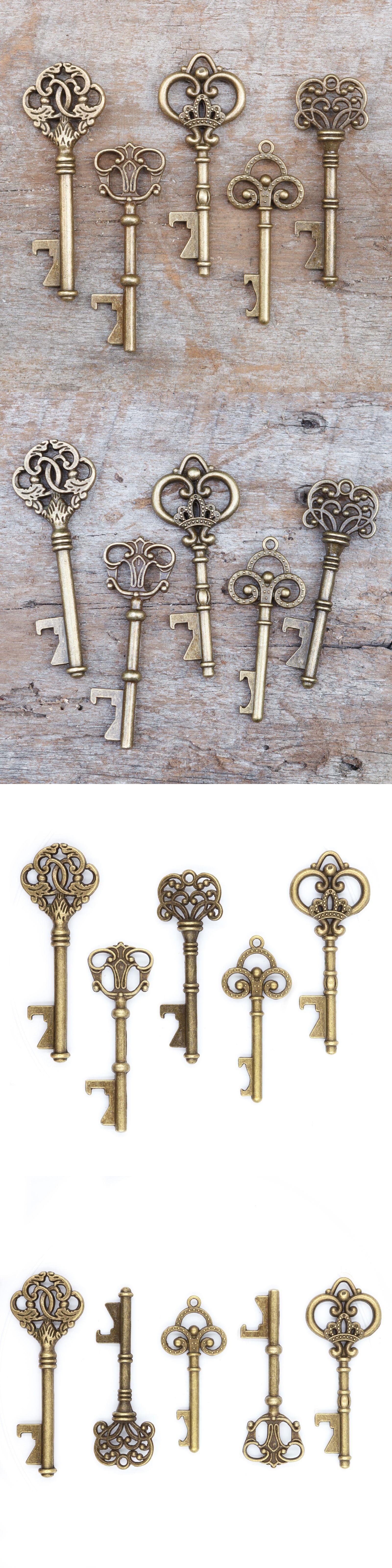 Wedding Favors 33156: 50 Assorted Key Bottle Openers - Vintage ...
