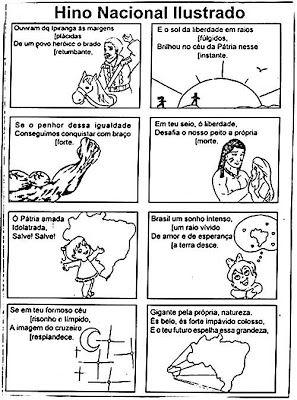 Hino Nacional Brasileiro Ilustrado 01