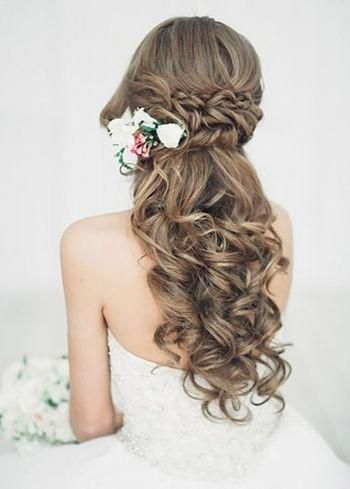 Half up half down wedding hairstyles updo for long hair for medium length for bridemaids #hair #hairstyles #haircolor #haircut #wedding #webdesign #weddinghair #weddinghairstyle #braids #braidedhairstyles #braidinspiration #updo #updohairstyles #shorthair #shorthairstyles #longhair #longhairstyles #mediumhair #promhairstyles #stunningweddinghairstyles #bridemaidshair