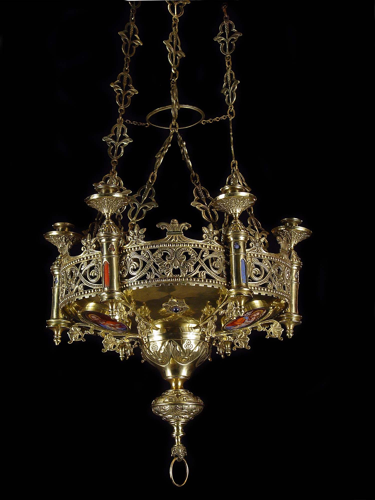 Antique brass gothic revival chandelier. Very regal looking! This would be  great hanging in the entryway of a Medieval mini-castle with an antique  armoire ... - Antique Brass Gothic Revival Chandelier. Very Regal Looking! This