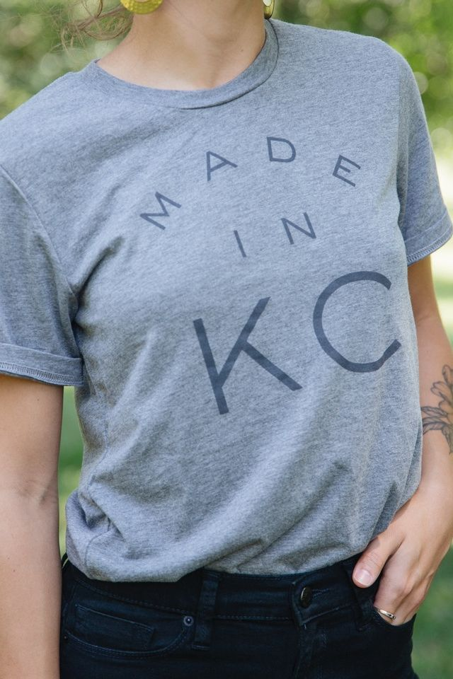 Sure to be one of your favorites, our grey Made in KC Tee is a summertime stunner. This unique vintage style t-shirt is modeled after an old school gym tee with a twist of Kansas City pride. 👍 . . . . . . . . . . #supportsmallbusiness #igkansascity #kcmo #igkc #instakc #kclocal #shopsmall #tshirt #ootd #fashion #kansascity #madeinkc #tee #smallbusiness #supportlocal #buylocal