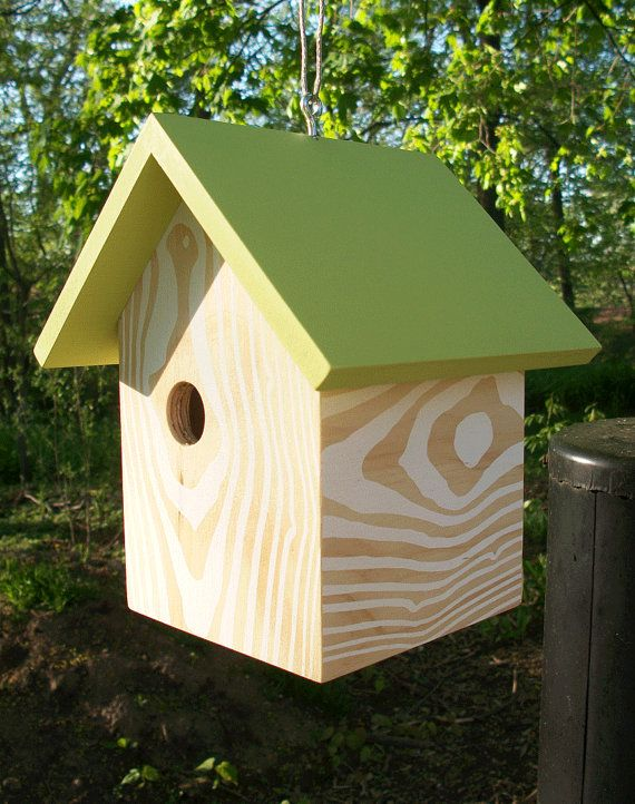 New Design! Hanging Birdhouse. sold | Bird houses, Modern ...