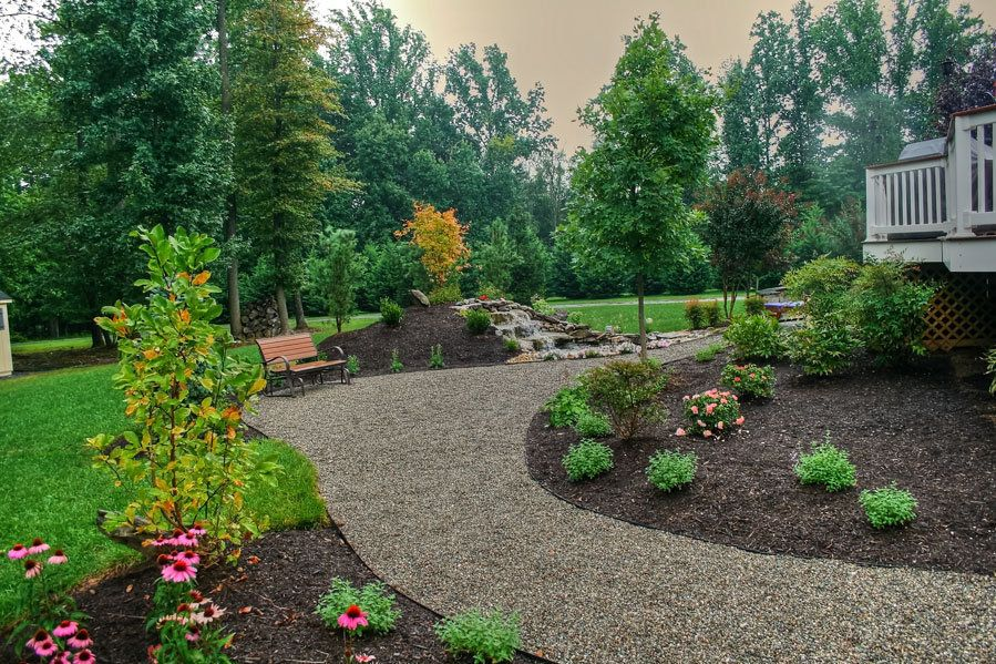 Delaware Pea Gravel patio - Pea gravel patio | Small ... on Pea Gravel Yard Ideas id=70960