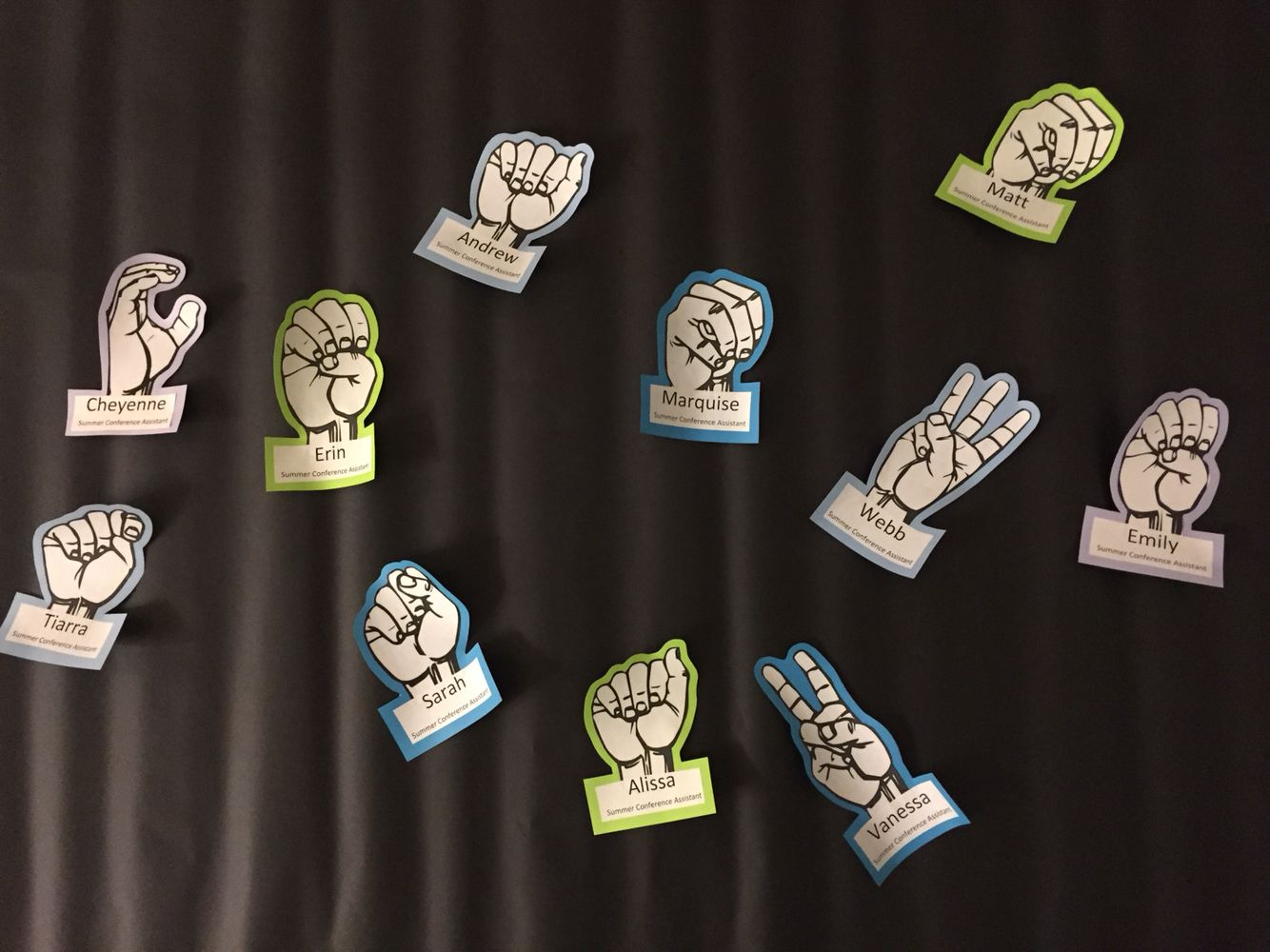American Sign Language Door Decs Each personu0027s first letter of their name finger spelled letters! #RA #ASL #door #decs #sign #language ... & American Sign Language Door Decs Each personu0027s first letter of their ...